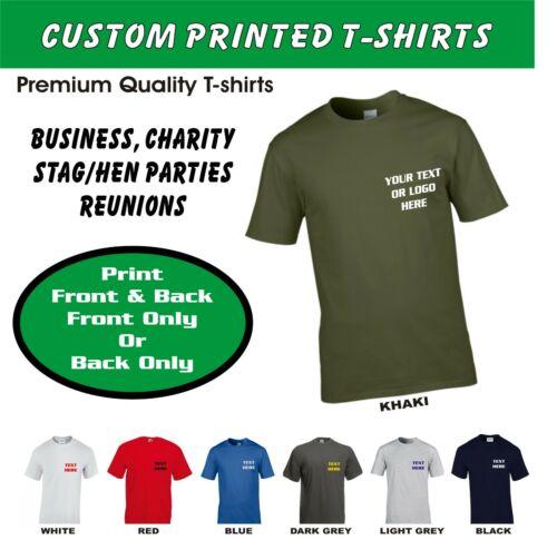 Personalised Custom Printed T Shirt Work Wear  Name logo slogans