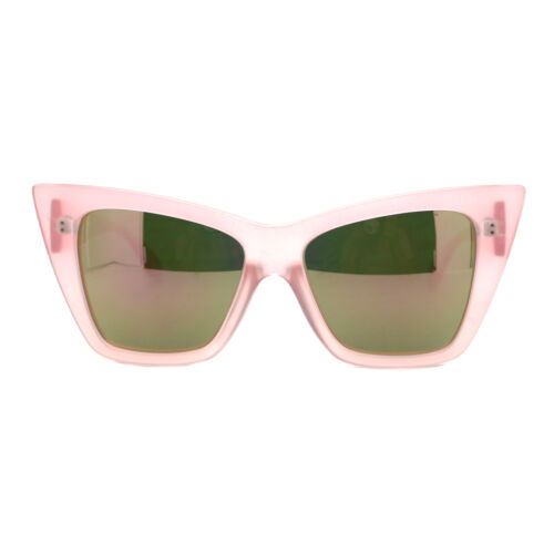 Womens Oversized Sunglasses Square Cateye Butterfly Frame Mirror Lens