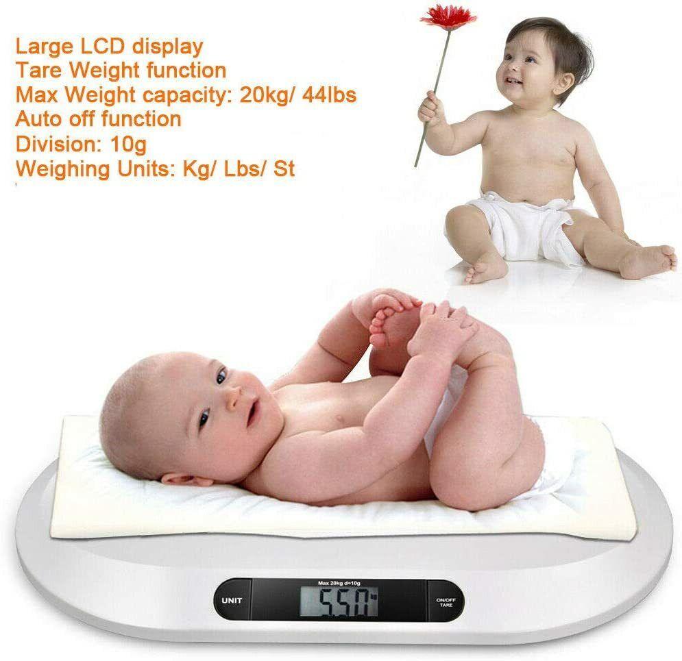 Electrónica 20KG balanzas infantil del Niño Digital Bebé Casa Cuarto de baño Peso
