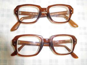 a037c067c8aa Image is loading Lot-2-Vintage-USS-Military-Brown-Eyeglasses-Eyeglass-