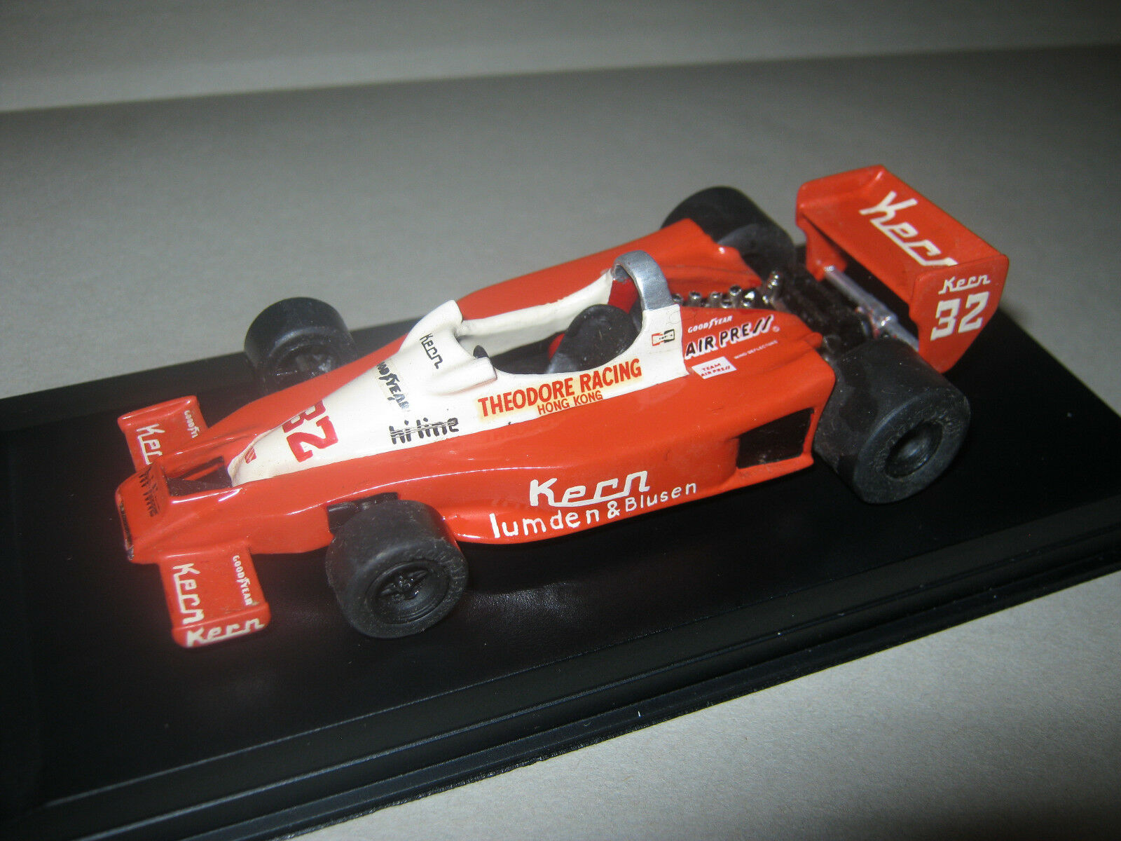 1 43 Theodore W. Wolf wr1 K. Rosberg German GP 1978 handbuilt MODELCAR in Showcase