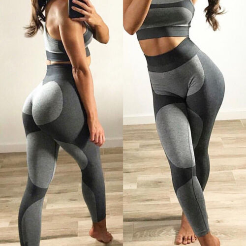 Womens Yoga Pants Leggings Push Up Stretch Gym Fitness Sports Workout Trousers