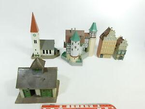 Bd770-2# 5x Faller H0 Modèle B-238 Eglise 268 Schloss/château Maison De Ville