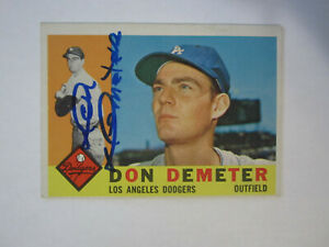 1960-Topps-234-Don-Demeter-Autograph-Signed-card-M-Los-Angeles-Dodgers