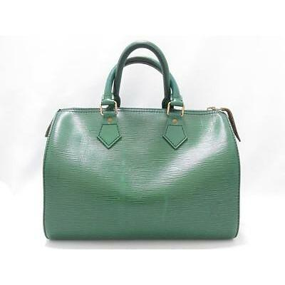 Authentic LOUIS VUITTON Speedy 30 Handbag Boston Bag Epi Leather Green M43004