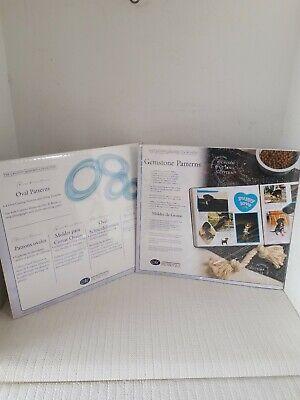 Aprendido Lot Of 2 Creative Memories - 4 Oval & 3 Gemstone Cutting Patterns Cutting System 100% Original