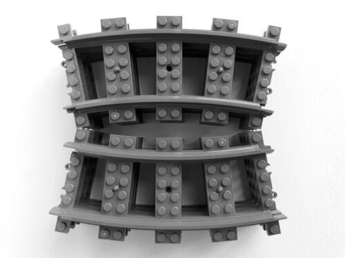 Lego City train curved track set for sets 10219 60098 60052 7939 7898 3677