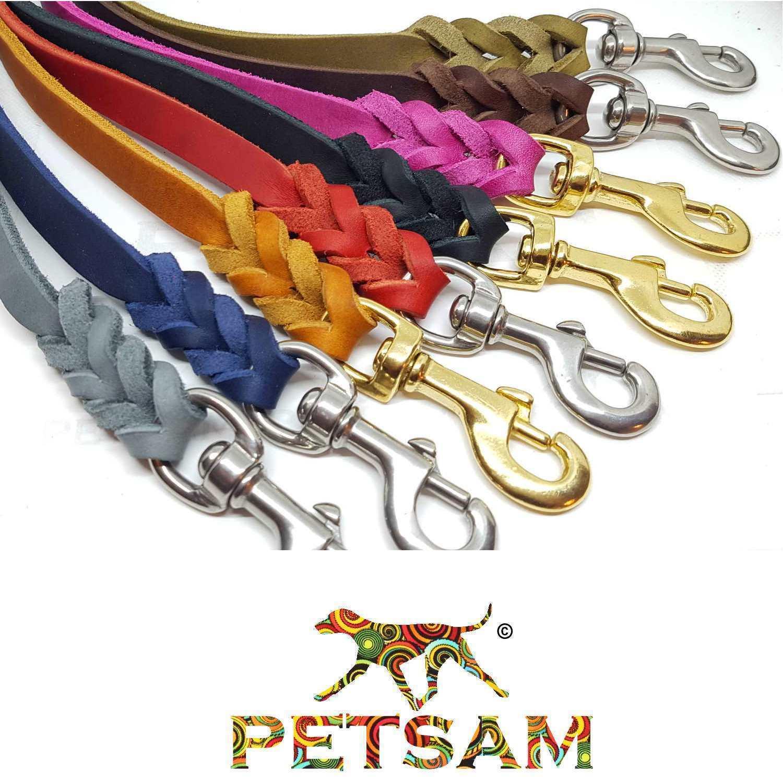 Fettleder Leine Hundeleine Farbe BLAU 8,10,12,15,18,20mm  | Bekannt für seine hervorragende Qualität