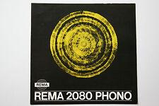 originale Werbung Gebrauchsanleitung DDR Rema 2080 Phono (6)