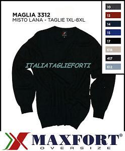 Maglione Maxfort Lana Uomo Forti Xl Polo Maglia Taglie 3312 Girocollo Misto 10xl EExqrUgwS
