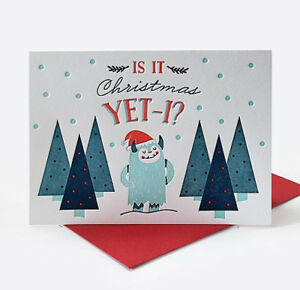 Letterpress Christmas Cards.Details About Is It Christmas Yet I Elum Letterpress Christmas Cards