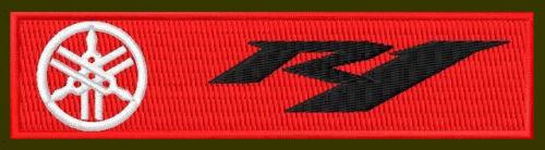 "YAMAHA R1 EMBROIDERED PATCH ~4-5//8/"" x 1/"" YZF RICAMATO BORDADO PARCHE AUFNÄHER"