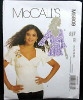 Mccalls Pattern M5809 Misses Tops Front Back Band Gathered Front (4-6-8-10-12)