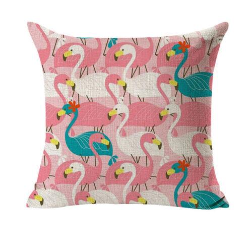 Taie d/'oreiller Flamingo Rose Coussin Housse Coussin 45x45 Fermeture Eclair p00de0121v