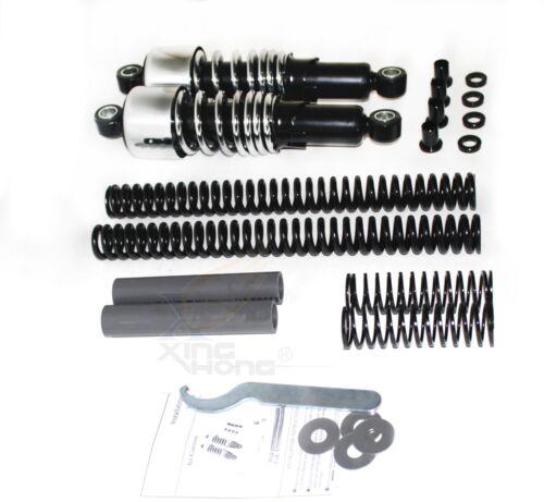 Chrome Front Rear Lowering Slammer Kit 04-17 Harley Sportster XL883 XL1200