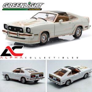 GREENLIGHT-12939-1-18-1978-FORD-MUSTANG-II-KING-COBRA-5-0-POLAR-WHITE-GOLD