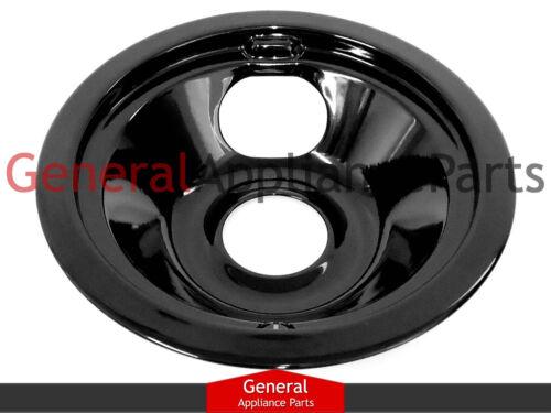 "Stove 6/"" Black Porcelain Drip Bowl Replaces Amana Maytag Jenn-Air # W10290353"