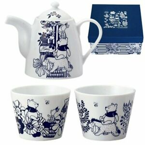 RARE Disney Winnie the Pooh Pair tea set from Japan 540ml 190ml Japanese Pottery