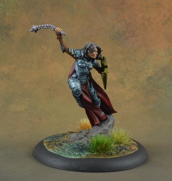 Pintado Hembra Paladin con Morning Star de Caballero Dark Sword Miniatures