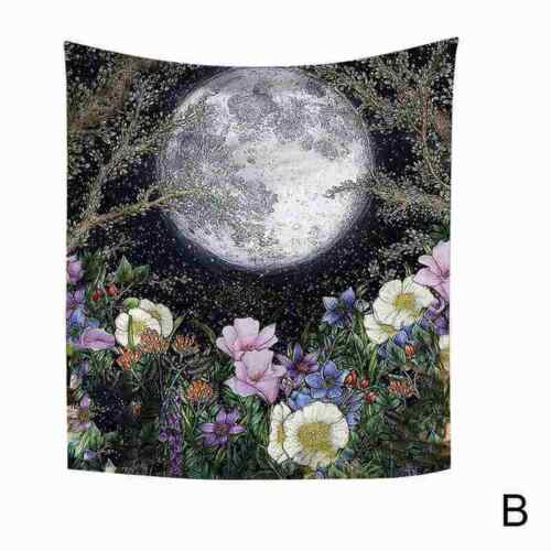 Fairytale Giant Insect Moon Tapestry Wall Hanging Living Room Dorm Bedroom E5I5