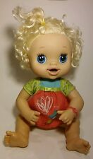 My Baby Alive Interactive Doll Blonde Eats Talks Pees Poops -Leg is breaking
