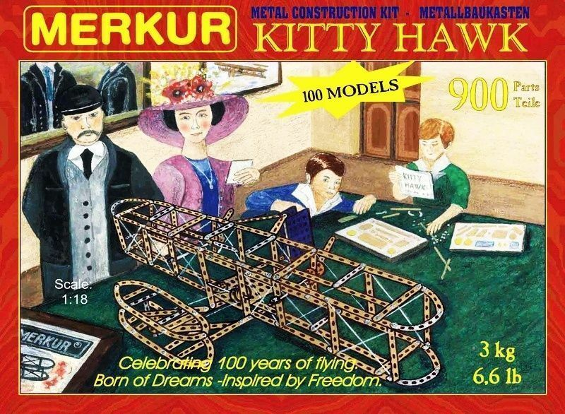 Merkur KITTY HAWK ,, grande set di accessori per la costruzione in metallo,...