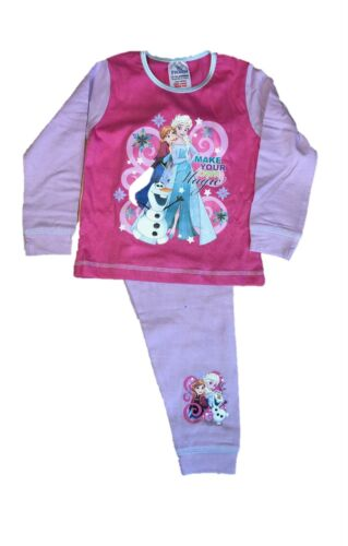 Enfants Filles Frozen Pyjama Personnage de Disney Elsa Anna