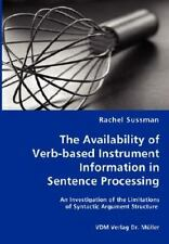 The Availability of Verb-Based Instrument Information in Sentence Processing...