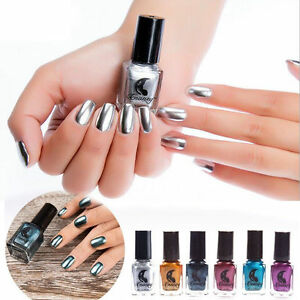 Metallic Mirror Effect Nail Art Varnish Magic Polish Metal Art