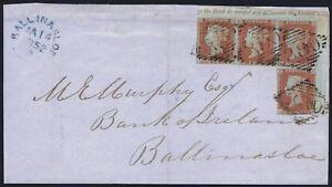 1841-1d-Red-Pl-120-AJ-BL-Corner-Plate-Number-Block-Irish-Cover-Exhibition-Item