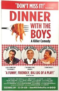 Dinner-With-The-Boys-11-x-17-Window-Card-poster-Broadway-Italian-Dan-Lauria