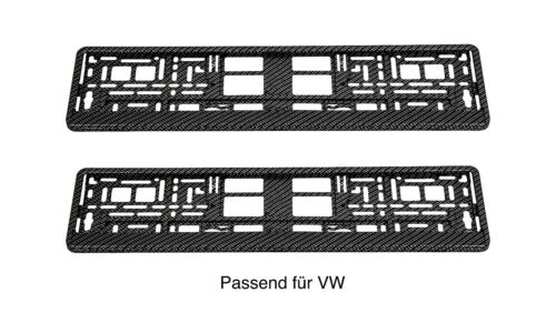 2 x Kennzeichenhalter Carbon Glanz Nummernschildhalterung Auto PKW N7
