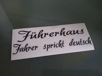 Führerhaus Aufkleber