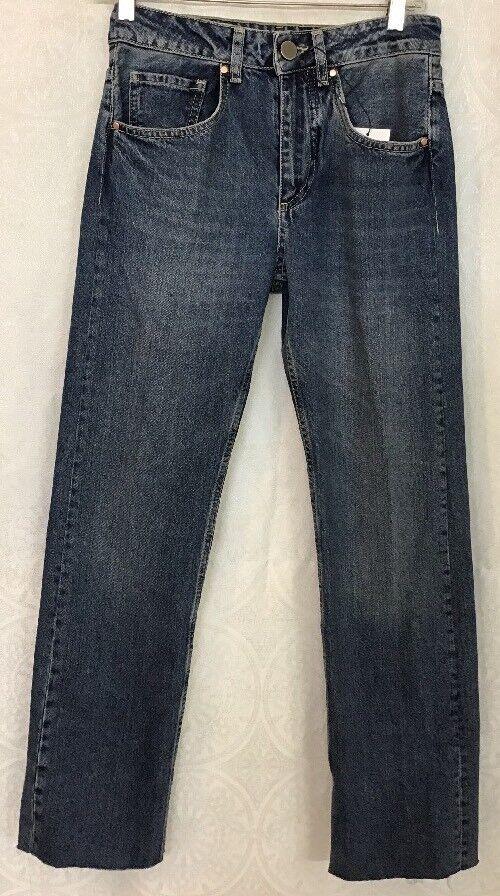 Raey Jean bred Leg Medium Wash Storlek 24 NWT