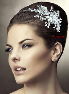 TB032-Wedding-Bridal-Bridesmaid-Prom-Pearl-Side-Clear-Flower-Crystal-Tiara