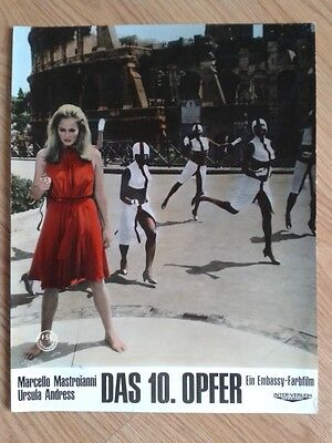 TENTH VICTIM lobby card - sexy leggy URSULA  ANDRESS  Elio Petri Sci-Fi classic