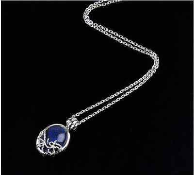 VINTAGE Classic Vampire Diaries Katherine Anti-sunlight Lapis Lazuli Necklace