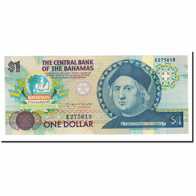 Rich And Magnificent Hearty Unc Bahamas Banknote Km:50a 1992 #564063 1 Dollar 65-70