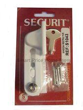 Securit Window Restrictor White Lock Key Children Safety 90mm Ventilation  S1043
