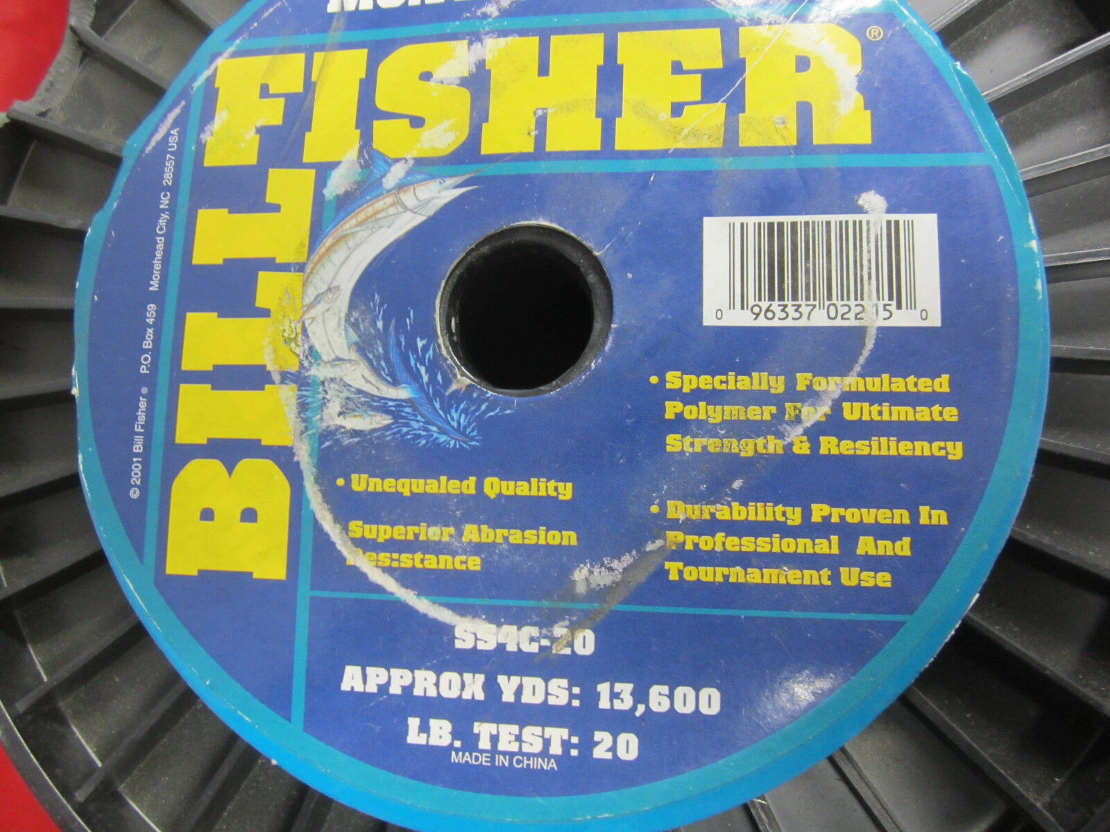 Billfisher Monofilament line - 20LB - 13600 YDS - CLEAR