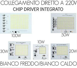 Piastra-a-led-con-driver-220V-integrato-10W-20W-30W-50W-100W-ricambio-faro-a-led