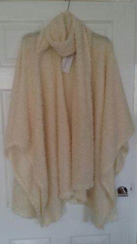 Cream Top Poncho Bohemia Marquito Coatigan Fluffy Boutique Jacket Bnwt Sciarpa nqxO8at0tw