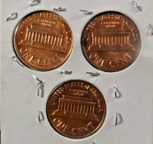 21018 SET OF 1969 P,D,S LINCOLN MEMORIAL PENNIES 5,FREE SHIPPING!!!!! UNC