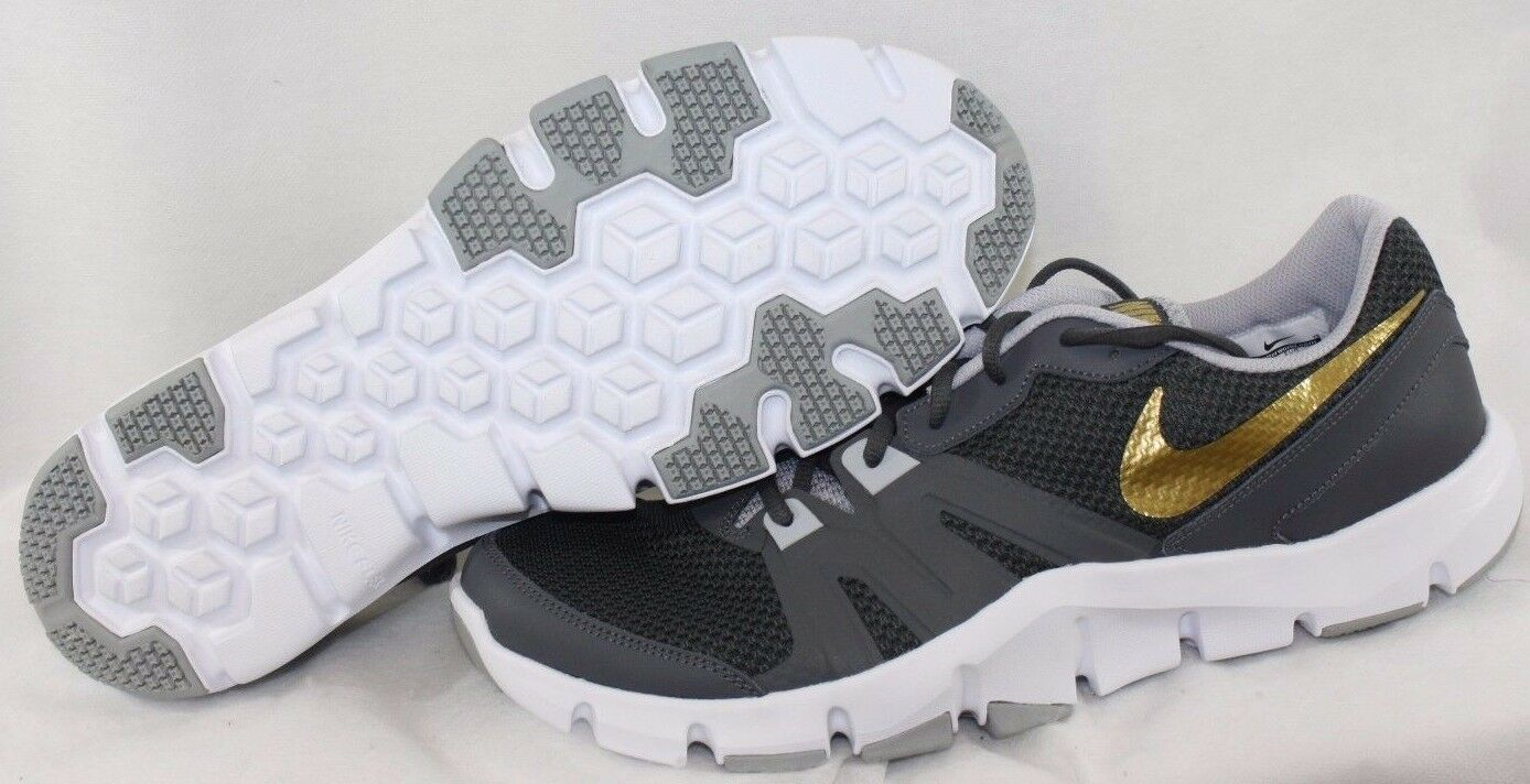 092b2471c607 NEW Mens NIKE Flex Show TR 4 807182 005 Grey Grey Grey Gold White Sneakers  Shoes