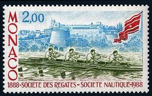 Monaco 1631, MNH. Nautical Society centenary. Boat, Flag, 1988