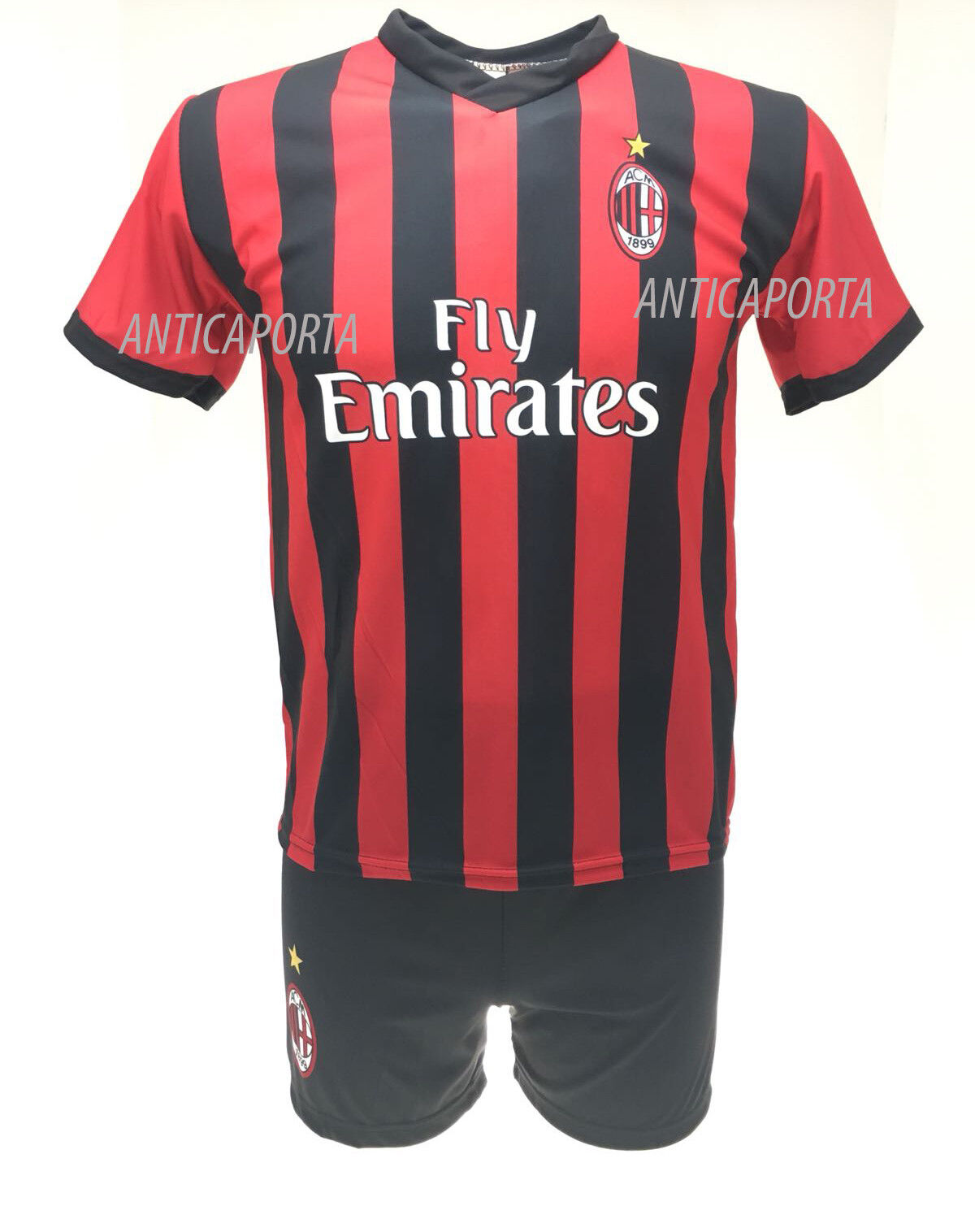 Set Calabria Milan 2 2019 Offizielle Trikot Shorts 2018 Davide 2 Milan Uniform 6458c9