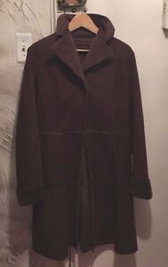Zara Coat Faux L Light Vægt Basic Fur Brown Shearling 0U60qr