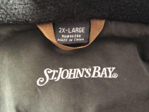 ST. John'S BAY-MEN 'S Casual Cappotto d'oliva-Taglia UK 2X GRANDE-BUONE CONDIZIONI  bbxf7