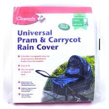 CLIPPASAFE UNIVERSAL PRAM /& CARRYCOT RAIN COVER *Medium*