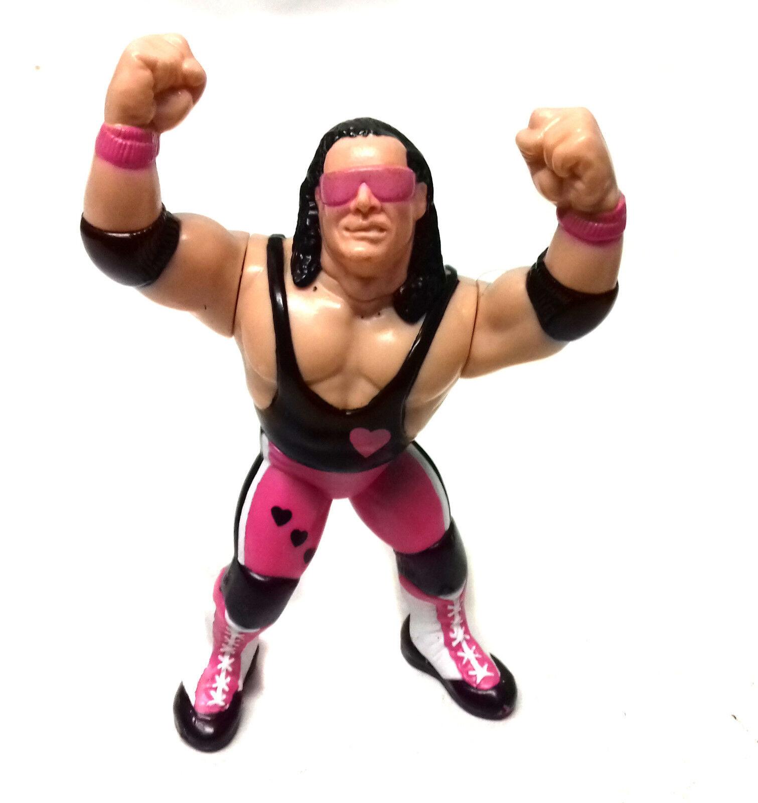 VINTAGE 90's Hasbro WWF WWE Wrestling BRET 'HITMAN' HART 4  toy figure RARE